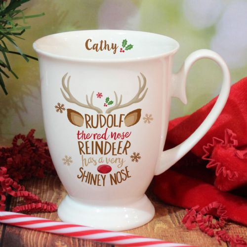 Personalised Rudolph the Red Nosed Reindeer Marquee Mug